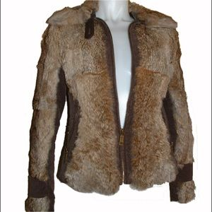 $1270 Juicy Couture Rabbit & Corduroy Jacket M